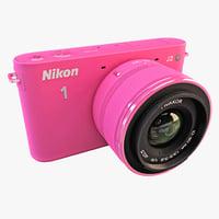 Nikon 1 J2 HD Digital Camera Pink