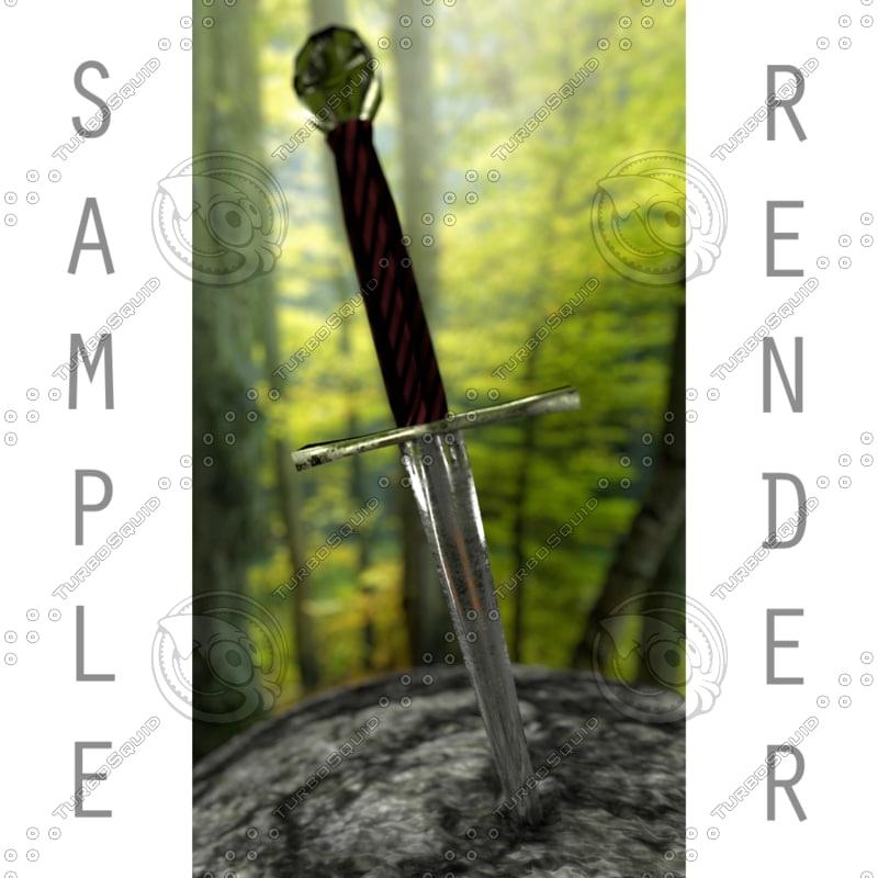 free caliburnus sword 3d model
