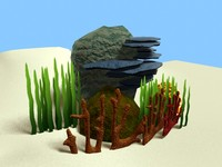 3d corals model