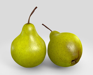 free pears normal 3d model
