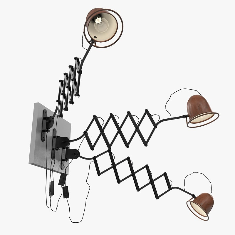 accordion light casalumi 3d max