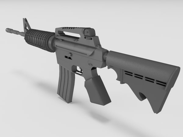 3d obj m4 colt rifle