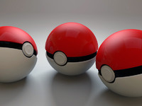 free pokeball poke ball 3d model