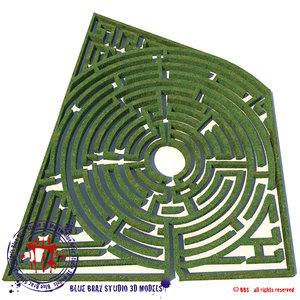 3d model garden maze