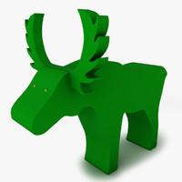 3d model decorative moose sponge
