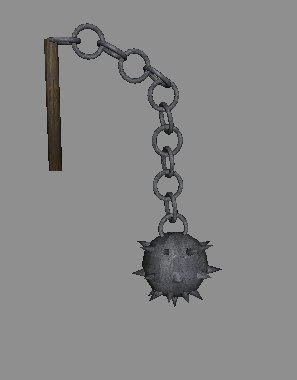 medieval spiked mace 3d 3ds