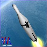 ugm-27 navy missile polaris 3d model