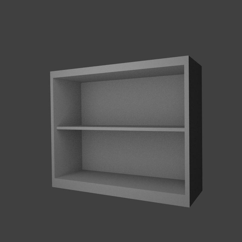 shelf bookcase 3d model