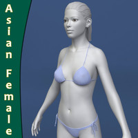 asian woman female body 3d max