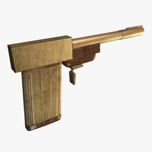 golden gun 3d model