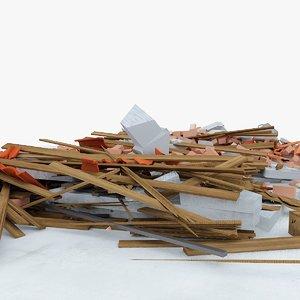 construction debris 4 obj