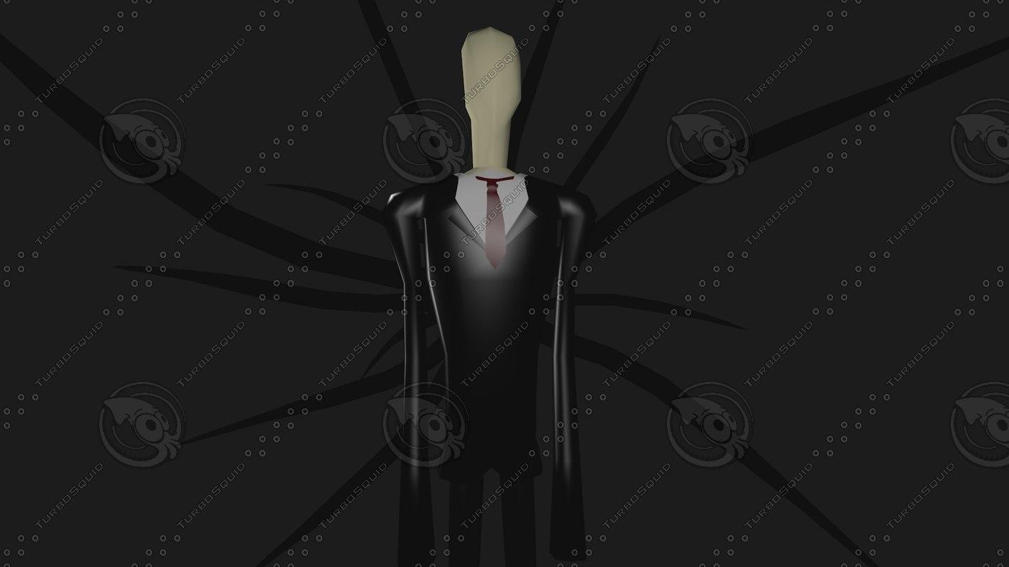 slender slenderman 3d model