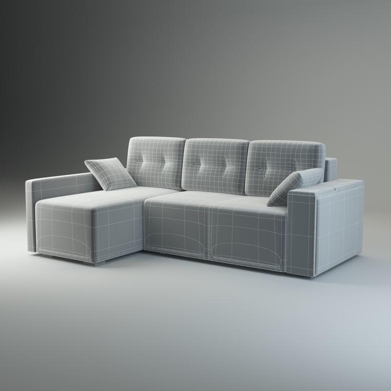 corner sofa fresh 3d model
