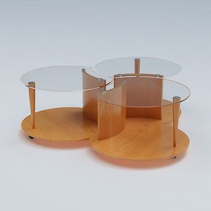 3d treble table model