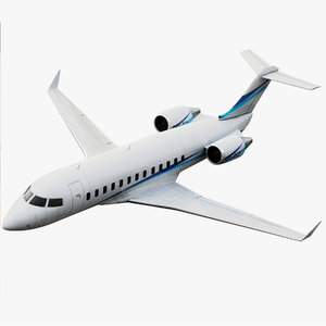 bombardier challenger 850 jet 3d max