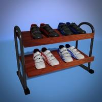 3d model shoes 4 pairs