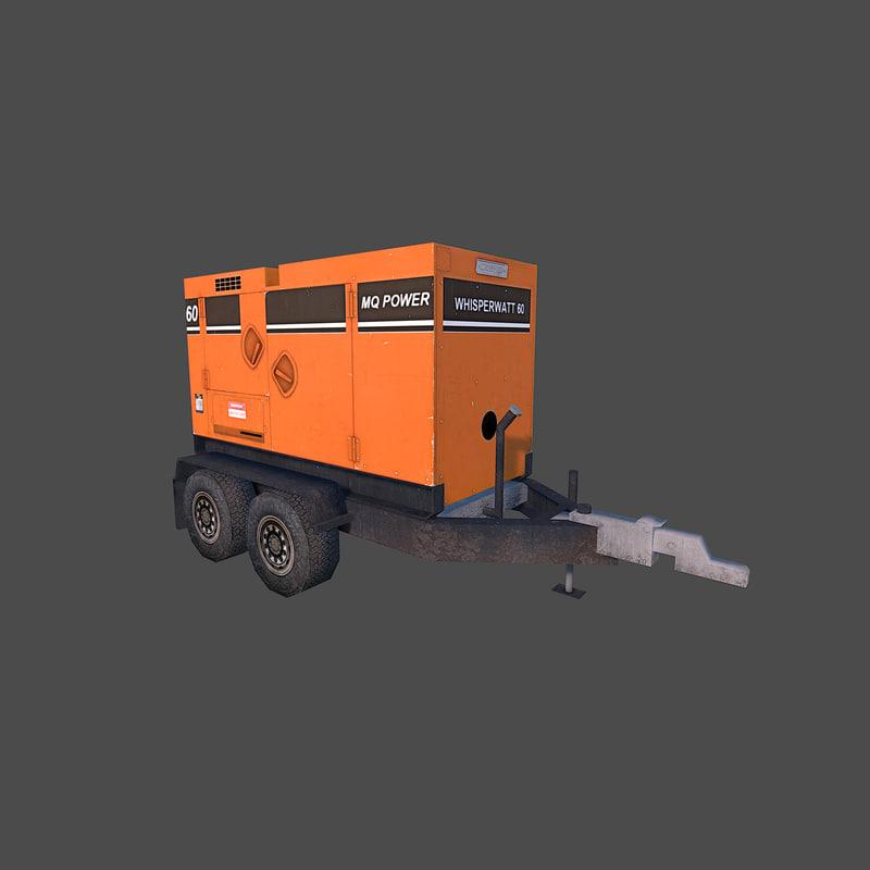 generator power 3d obj