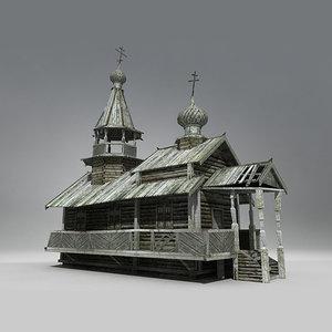 3ds siberian wooden church