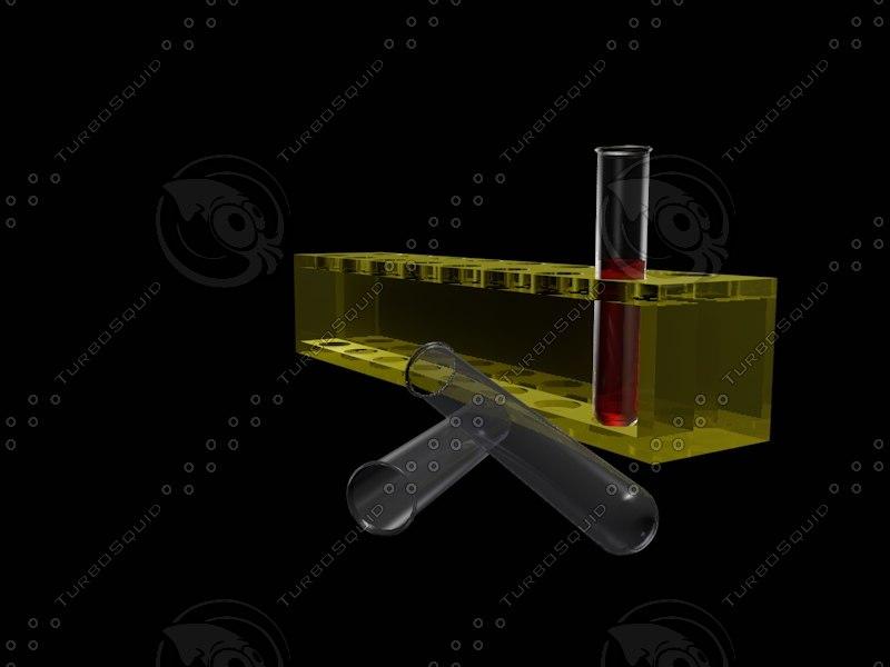 chemistry test tubes 3d model