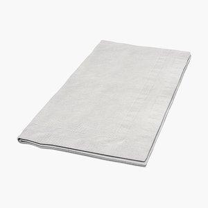 napkin 3d model