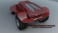 c4d dune runner concept car