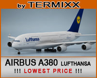 3d airplane airbus a380 lufthansa model