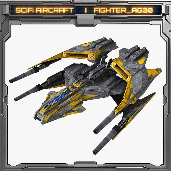 scifi fighter ag30 model