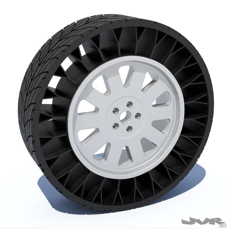 3ds max generic airless tire rim