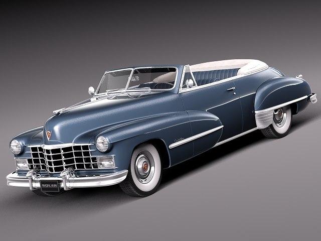 3d car v8 antique luxury model