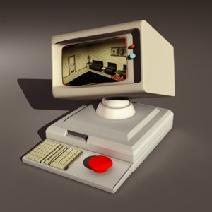 free fbx model cartoony computer