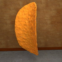 3d potato chip model