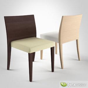 3d glam 431 chair upholstery model