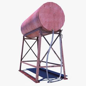 3ds max fuel barrel