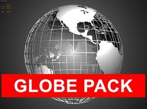 3d model pack globes