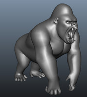 3dsmax gorilla animation