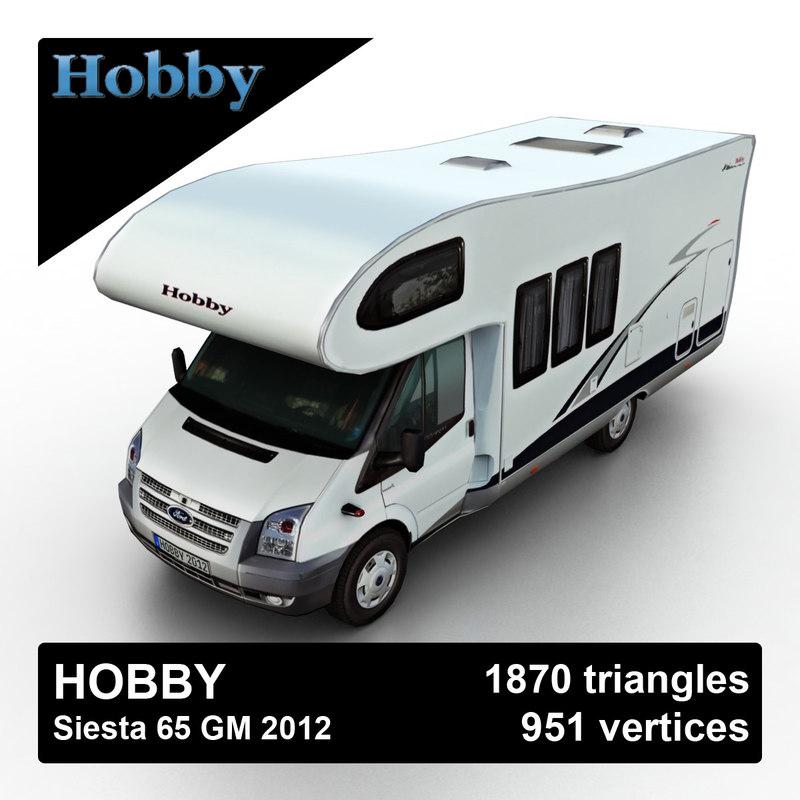 2012 hobby siesta 65 3d model