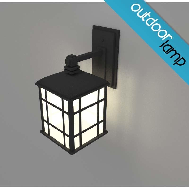 3d outdoor lamp light