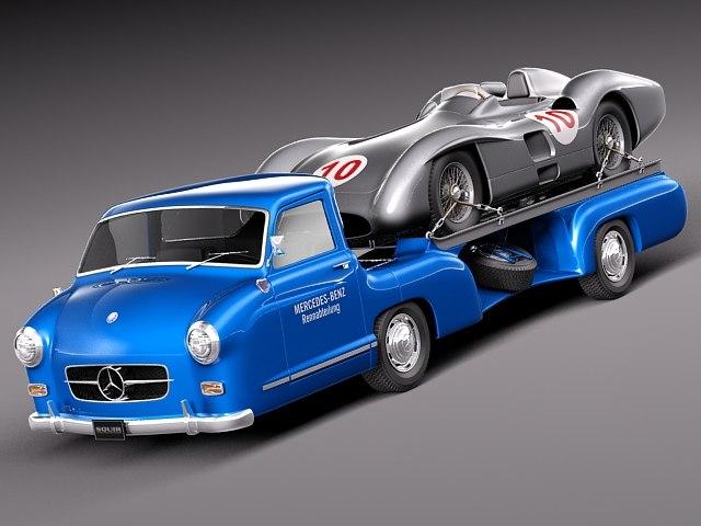 3dsmax car classic antique mercedes