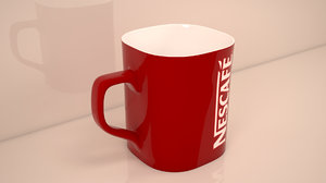 3d water cup model