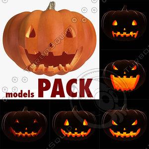 pack halloween pumpkin 3ds