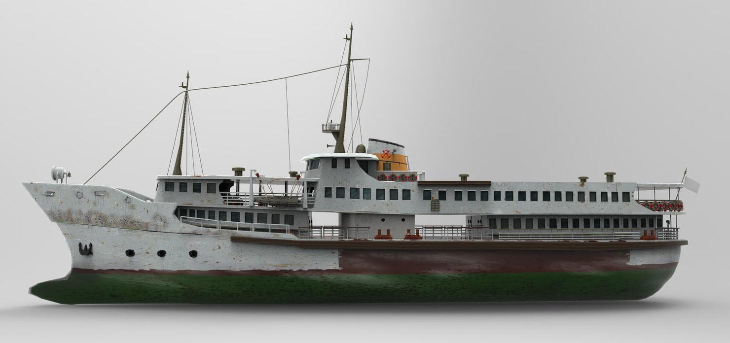 3d model steamboat boat