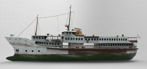 3d model steamboat boat