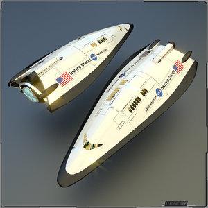 3d concept space shuttle