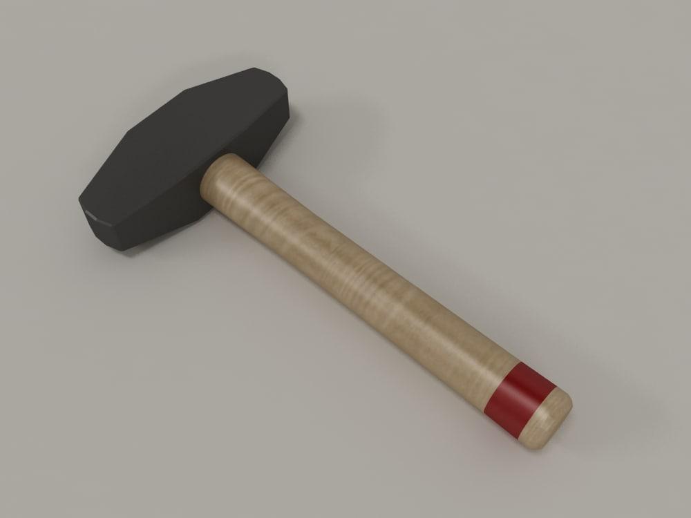 3d tool hammer model