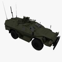 2001 kamaz-43269 vystrel kamaz 3d model