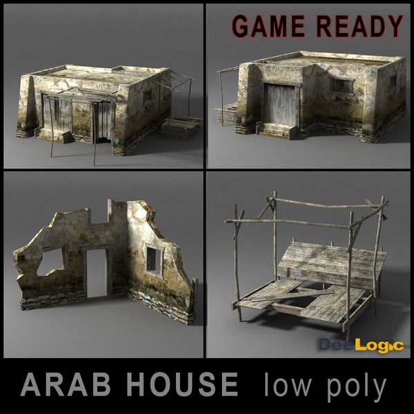 arab house 3d 3ds