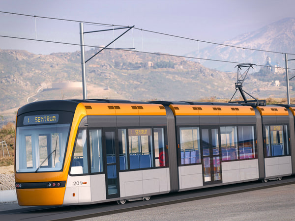 variotram bergen norway bybannen 3d model