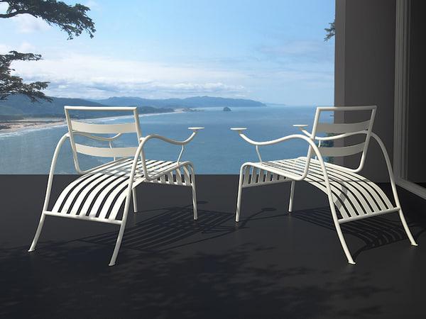 3d model thinking man s chair