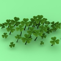 3dsmax clover field leaf