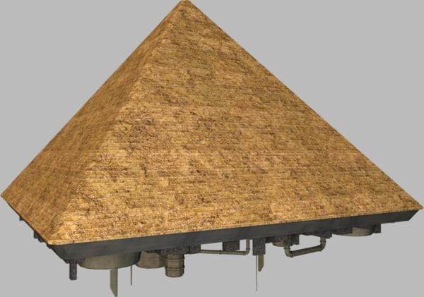3d obj pyramid spaceship